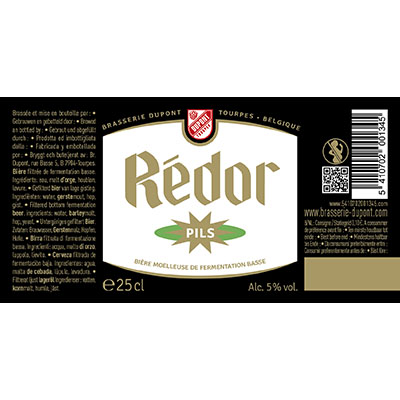 5410702001345 Rédor Pils - 25cl Filtered bottom fermentation beer Sticker Front